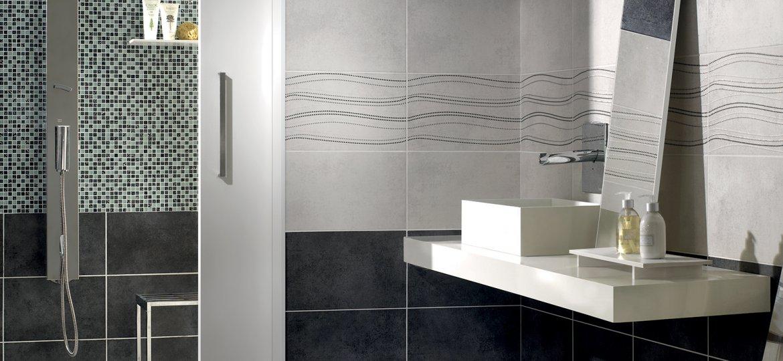 Mizar collection floor and wall tiles armonie - Rivestimento bagno grigio ...