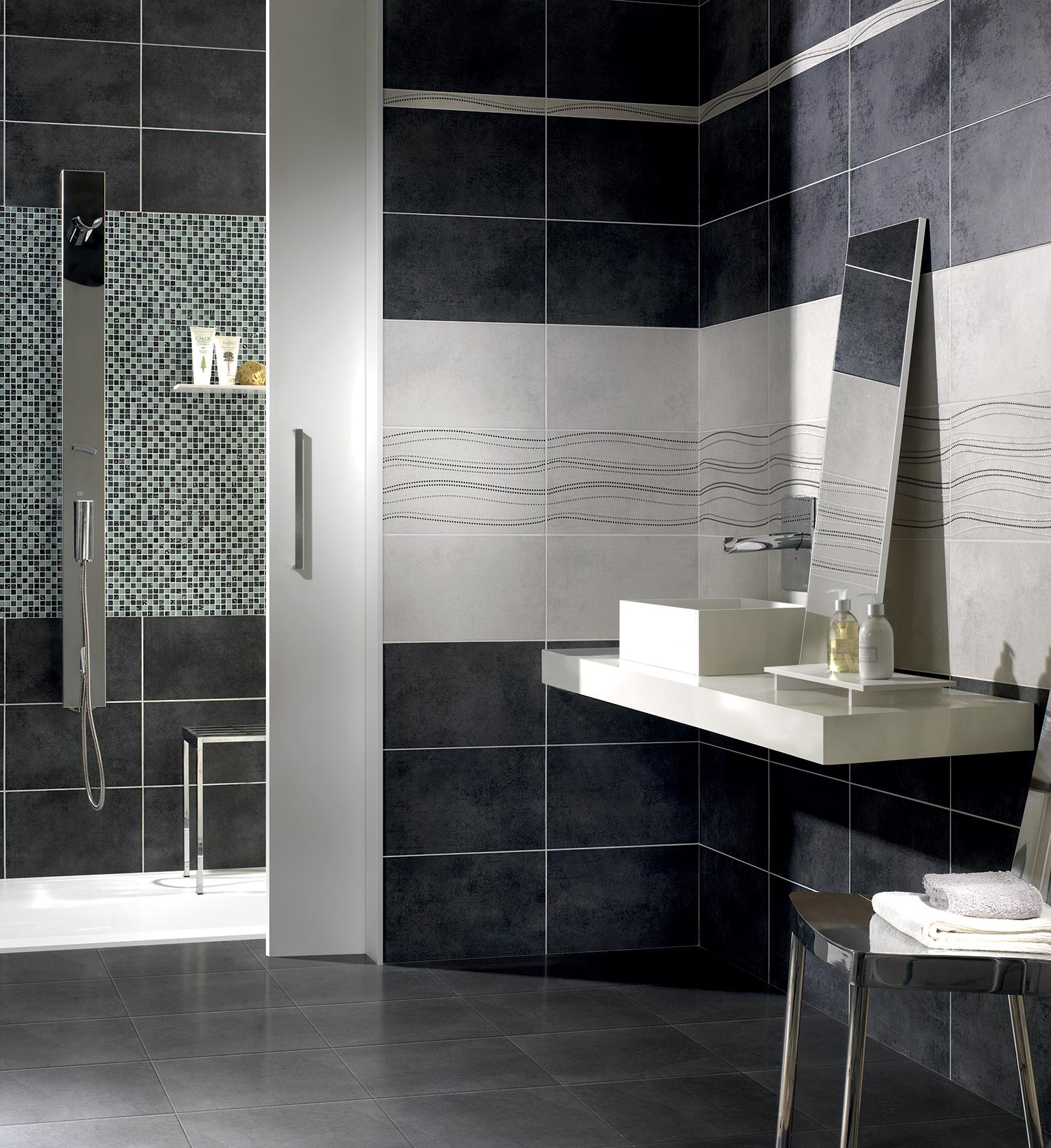 Serie mizar pavimenti e rivestimenti armonie by arte casa - Rivestimento bagno grigio ...