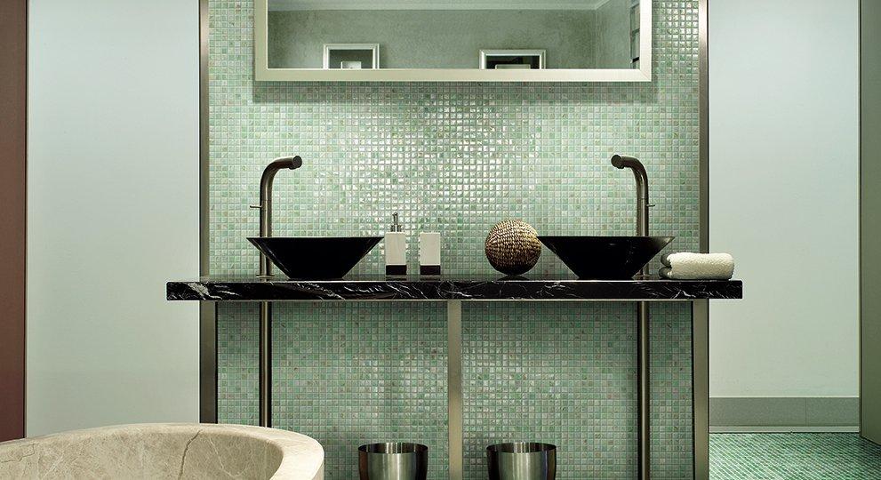 Piastrelle bagno verde mela latest idee di arredamento bagno in