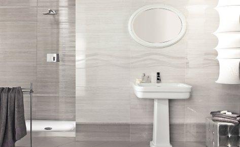Serie kontact pavimenti e rivestimenti armonie by arte - Piastrelle bagno a righe orizzontali ...