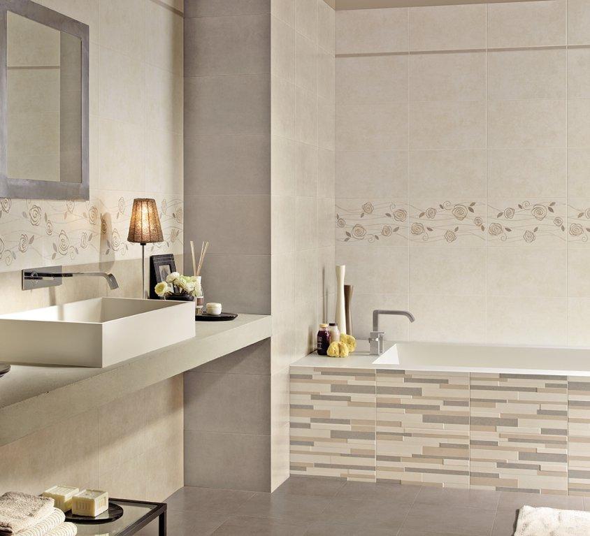 Armonie pavimenti e rivestimenti scopri il catalogo - Bagno beige e marrone ...