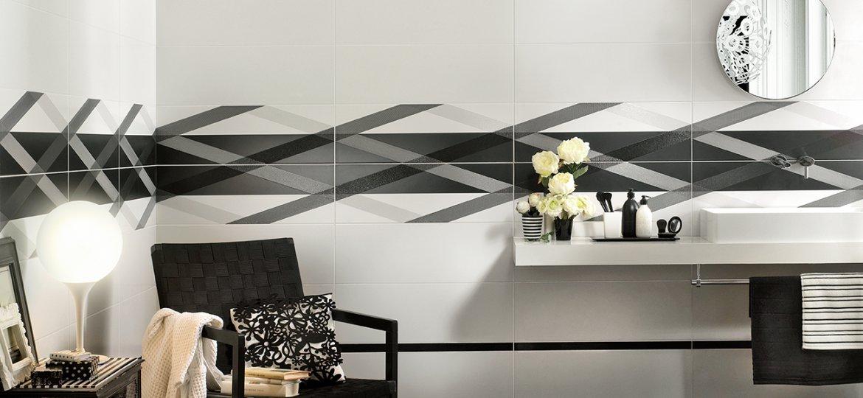 Serie bianchi pavimenti e rivestimenti armonie by arte casa - Rivestimento bagno bianco ...