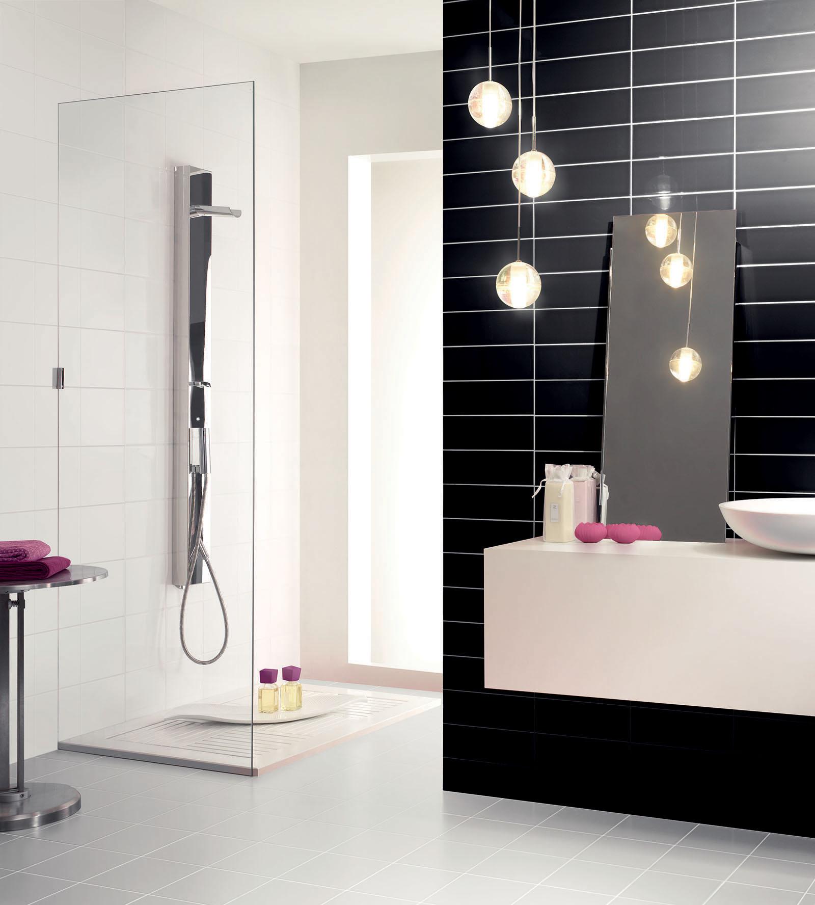 Rivestimento bagno e cucina colors pavimenti e rivestimenti armonie - Bagno bianco nero ...