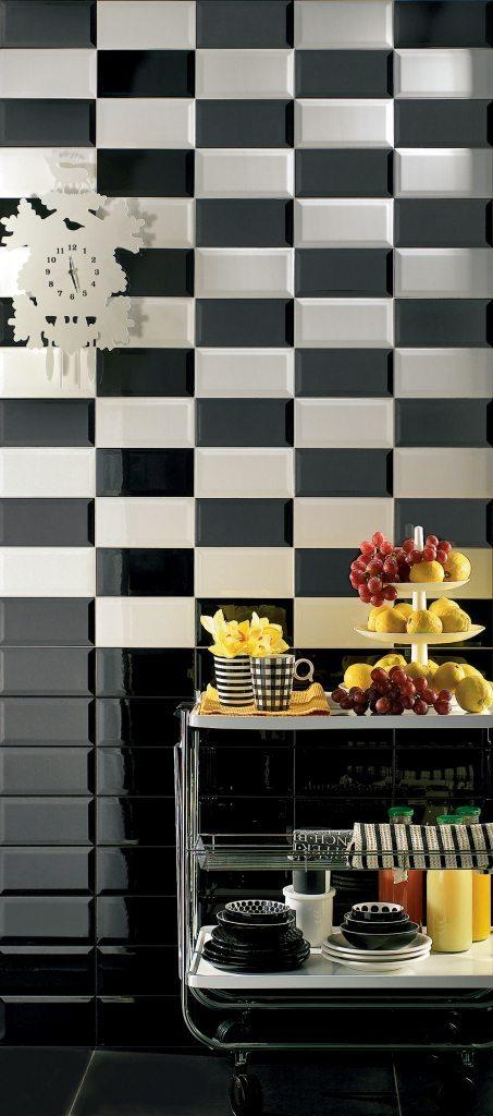 Diamante rivestimento cucina nero mosaico armonie - Mosaico rivestimento cucina ...