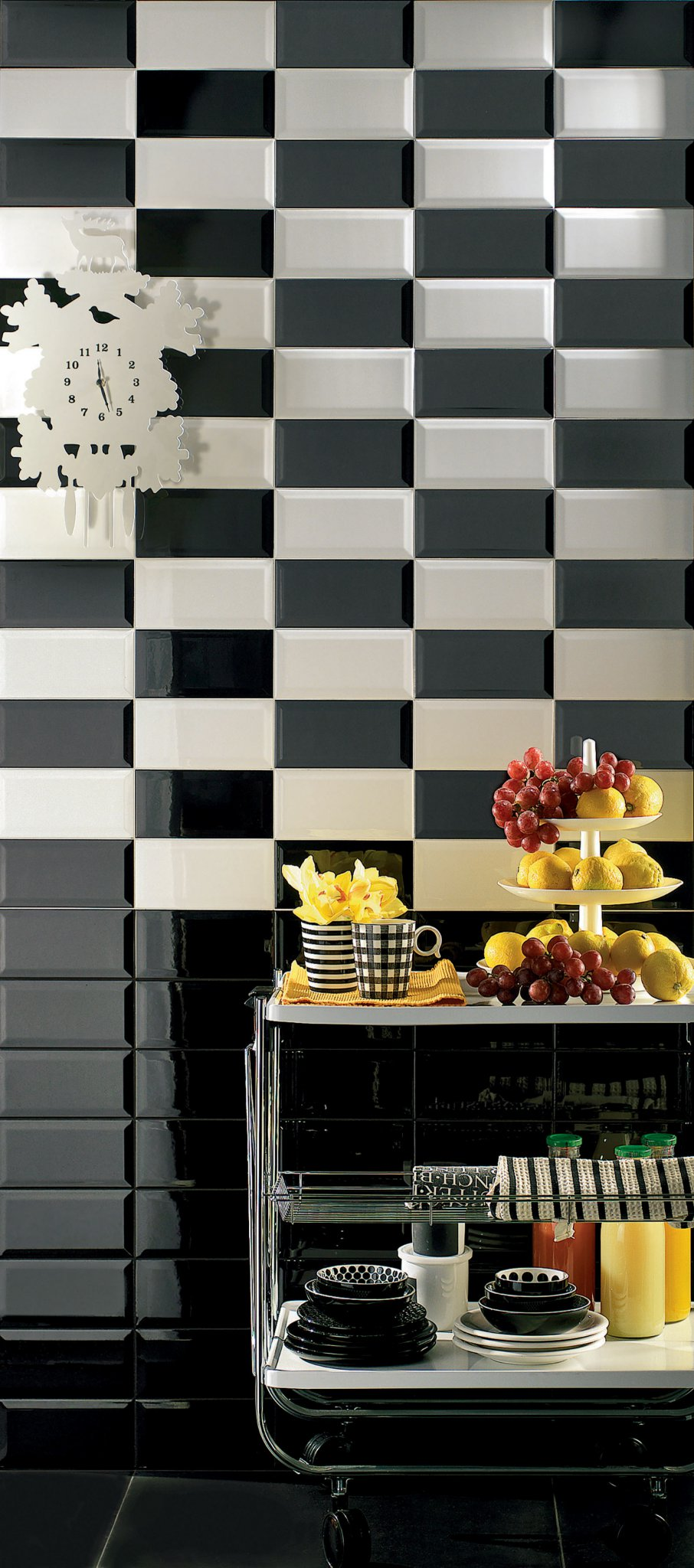 Diamante rivestimento cucina nero mosaico armonie ceramiche - Mosaico rivestimento cucina ...