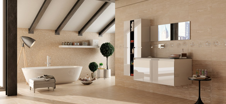 Serie imagine pavimenti e rivestimenti armonie ceramiche - Rivestimento bagno grigio ...