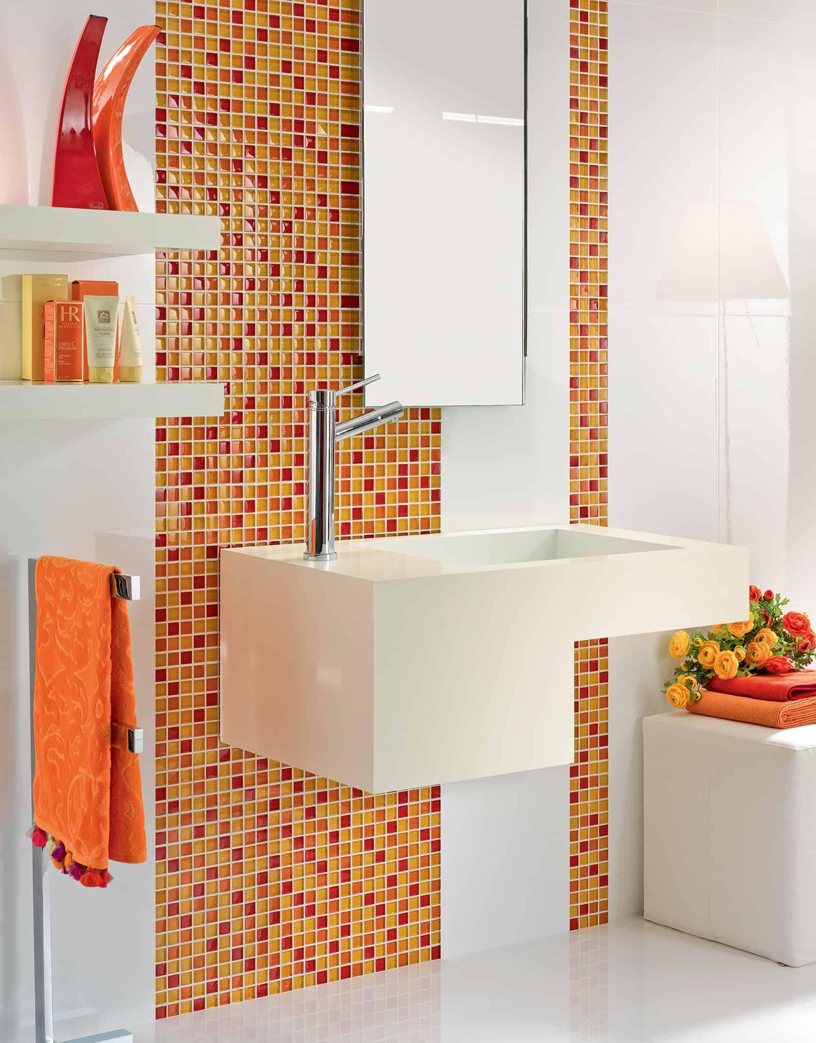 Piastrelle Bagno Mosaico Viola serie isole - pavimenti e rivestimenti - armonie ceramiche
