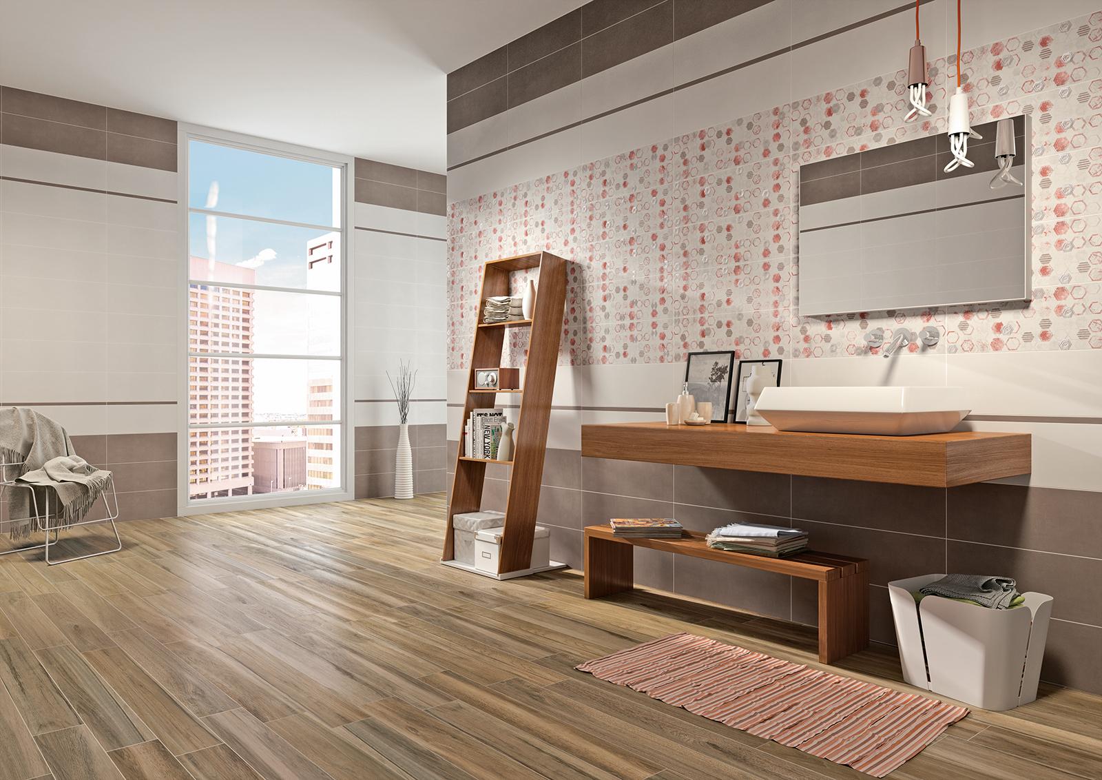 Kontact rivestimento bagno amaranto armonie - Rivestimento bagno design ...