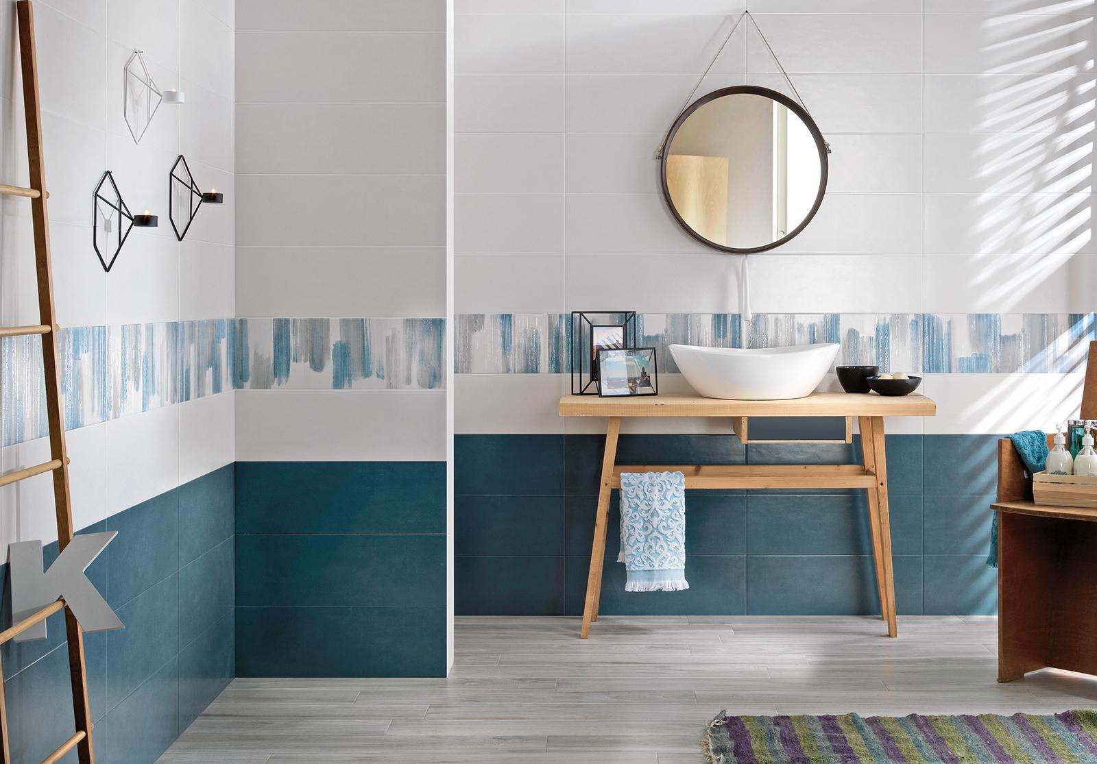 Serie kontact pavimenti e rivestimenti armonie ceramiche - Bagno di casa ...