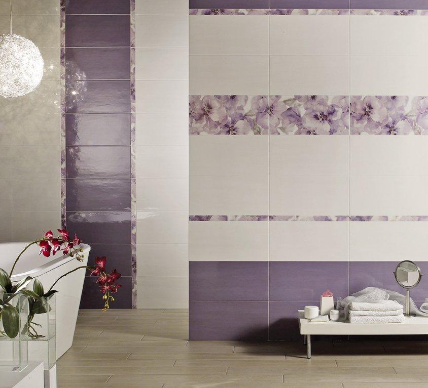 Bagno moderno viola - Piastrelle bagno viola ...