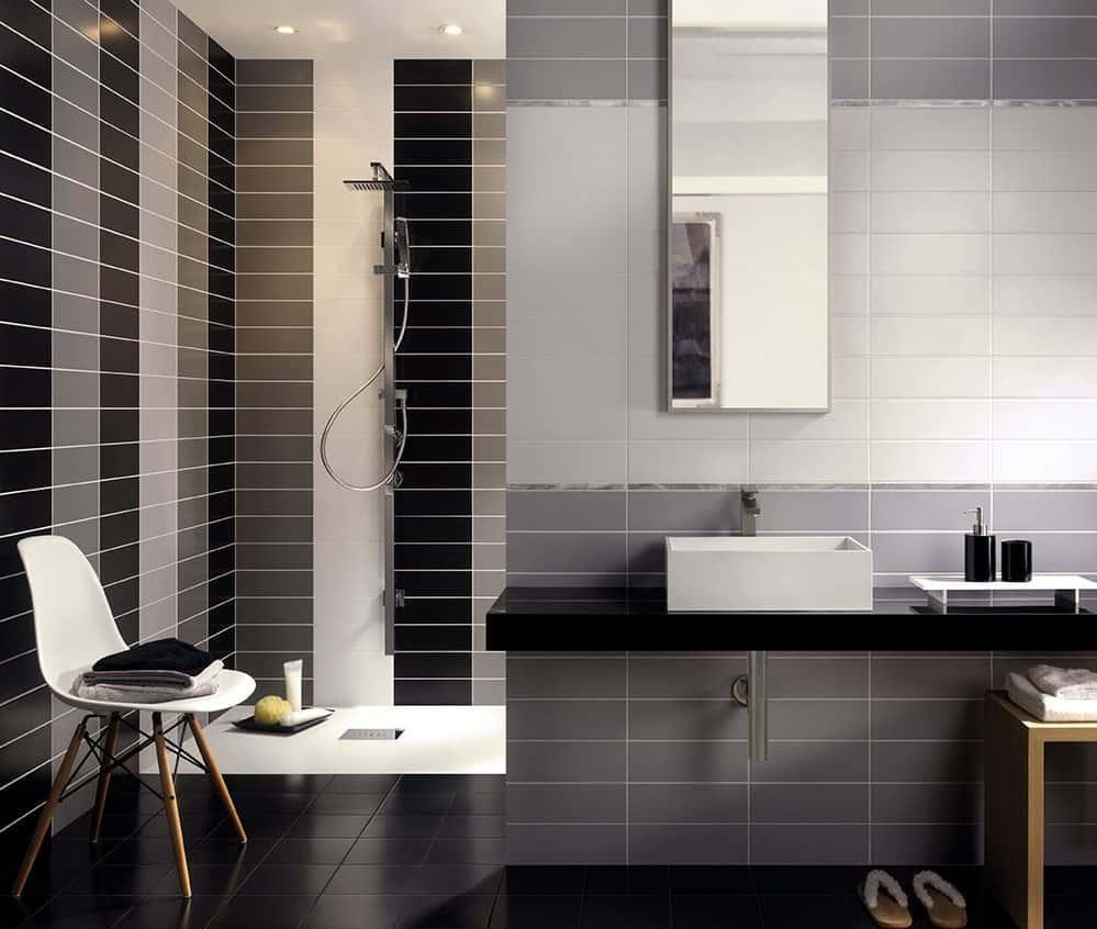Serie tiffany pavimenti e rivestimenti armonie by arte casa - Bagno bianco nero ...