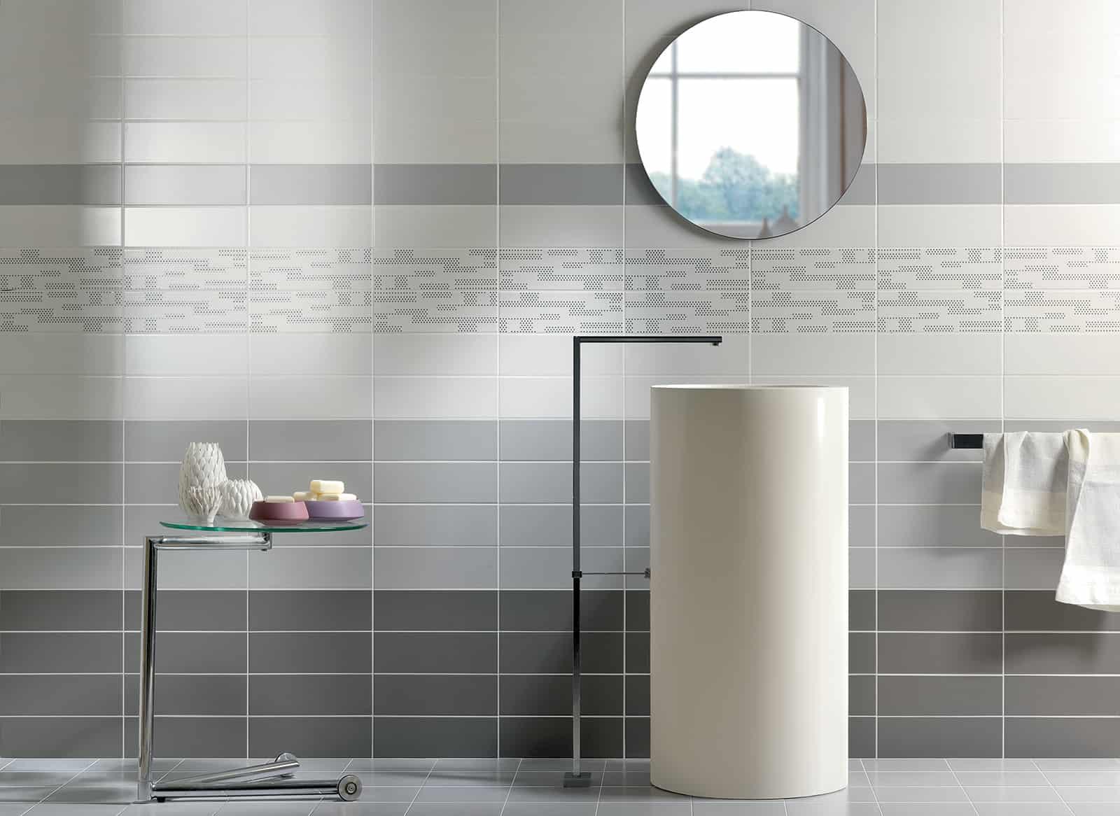 Tiffany rivestimento bagno grigio cemento wall armonie ceramiche