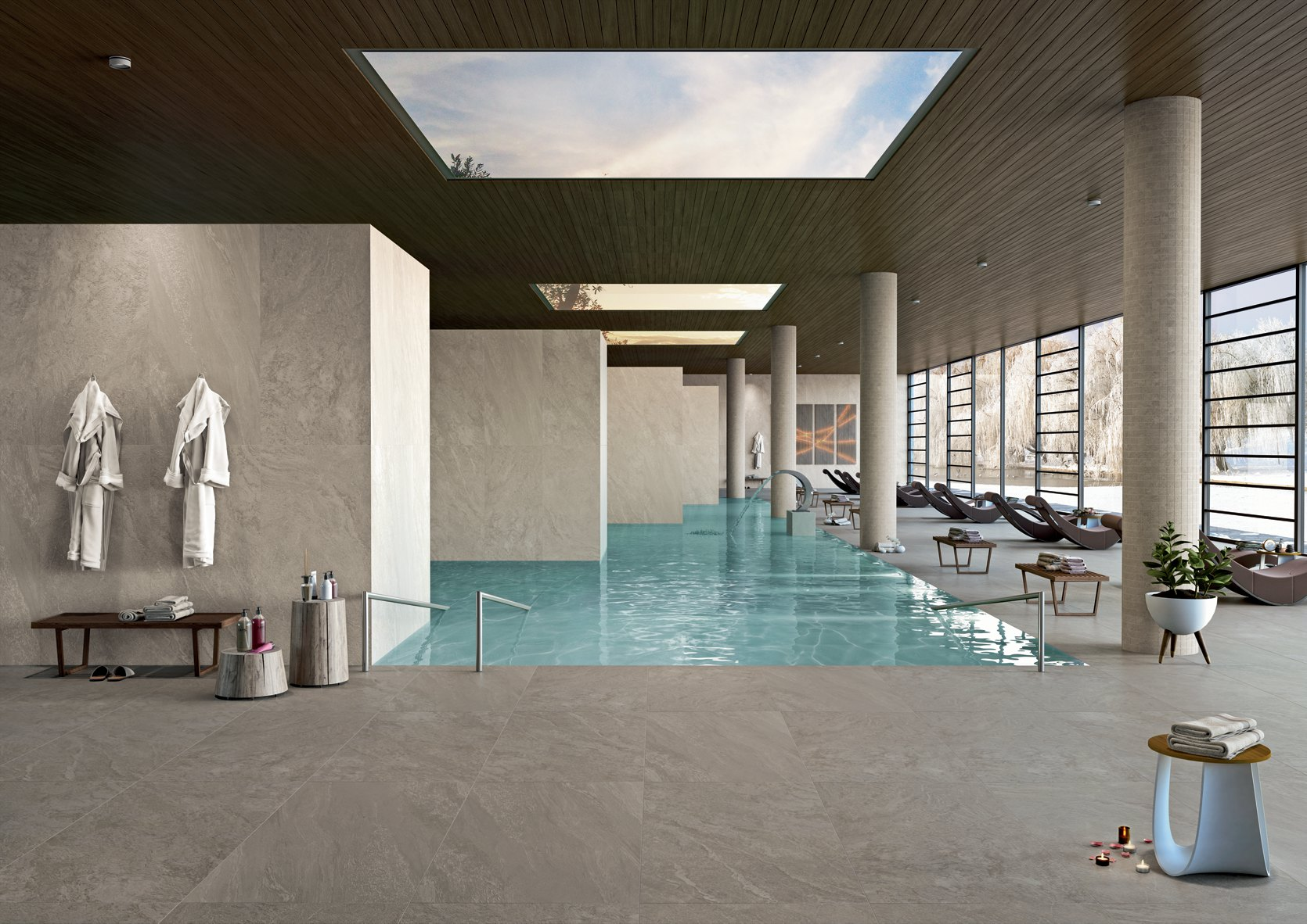 Pavimenti e rivestimenti gres effetto pietra armonie - Arte casa cernusco ...