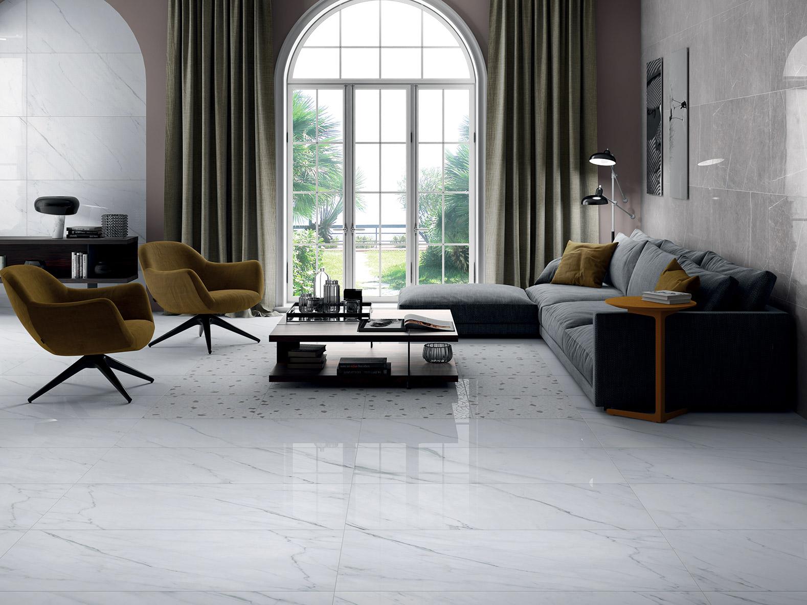 Pavimento Finto Marmo Lucido serie marmo lab - pavimenti e rivestimenti - armonie ceramiche